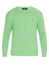 Polo Ralph Lauren Cable Knit Cotton Sweater Green