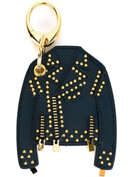 Versace Studded Jacket Key Ring Blue