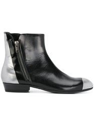 Pantanetti Side Zip Ankle Boots Calf Leather Leather Rubber Black