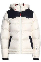 Perfect Moment Quilted Shell Coat White