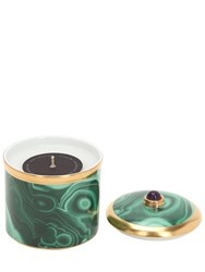 L'objet Malachite Scented Candle Green