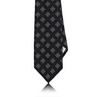 Fairfax Men's Square Pattern Necktie Blue