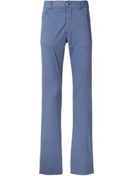 Canali Straight Fit Trousers Blue