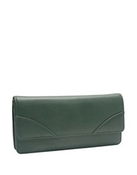 Tusk Donington Leather Flap Clutch Wallet Forest