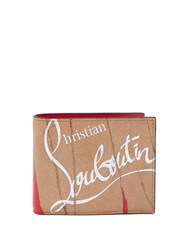 Christian Louboutin Coolcoin Leather Wallet Beige