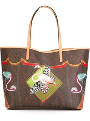 Etro Flamingo Print Tote Multicolour