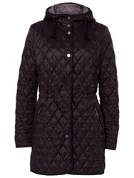 Basler Lightweight Quilted Coat With Hood Black