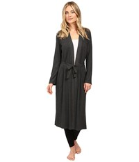 Only Hearts Club Wide Wale Rib Robe Charcoal Women's Robe Gray