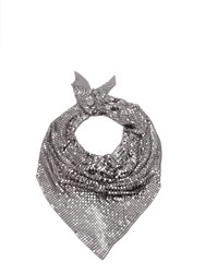 Paco Rabanne Chainmail Mesh Scarf Silver