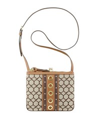 Nine West Jaya Jacquard Crossbody Bag Brown Khaki