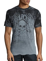 Affliction Skull And Bones Printed Tee Light Grey