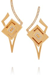 Kilian Lights And Reflections Gold Plated Swarovski Crystal Earrings