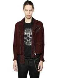 The Kooples Washed Leather Biker Jacket