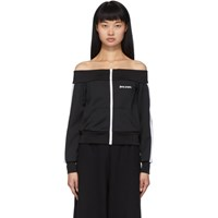 Palm Angels Black Off The Shoulder Track Jacket