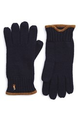 Men's Polo Ralph Lauren Merino Wool Gloves Blue Hunter Navy