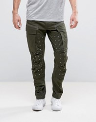 G Star Ms Rovic 3D Tapered Trouser Forest Night Green