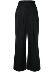 Alexander Wang Deconstructed Cropped Trousers Black