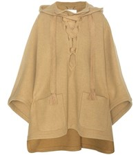 Chloe Virgin Wool Blend Poncho Brown