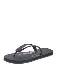 Givenchy Rottweiler Rubber Thong Sandal