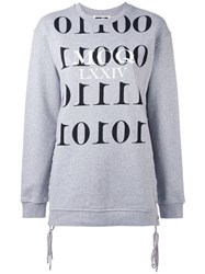 Mcq By Alexander Mcqueen Binary Sweatshirt Women Cotton M Grey
