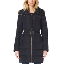 Michael Kors Faux Fur Trimmed Down Filled Jacket Dark Midnight