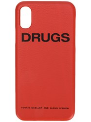 Raf Simons Iphone X Drugs Case Yellow And Orange
