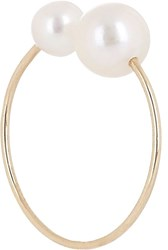 Hirotaka Akoya Pearl And Gold Ear Cuff Colorless