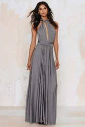 Nasty Gal Voltage Multi Wear Maxi Dress Gray