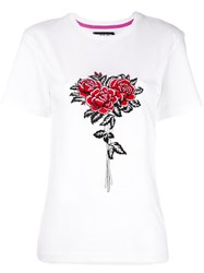 House Of Holland Rose Bunch Embroidery T Shirt White