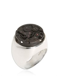 Cantini Mc Firenze Sterling Silver Steampunk Chevalier Ring