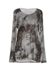 Le Tricot Perugia Topwear T Shirts Women Light Grey