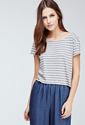 Forever 21 Boxy Nautical Striped Tee