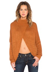 One Teaspoon Le Creme Open Front Sweater Brown