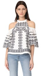 Parker Angie Blouse White