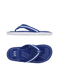 Emporio Armani Ea7 Footwear Thong Sandals Men Blue