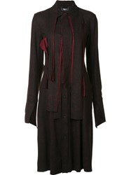 Yang Li Knee Length Shirt Dress Black