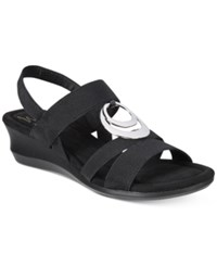 Impo Geanna Wedge Sandals Women's Shoes Black