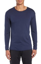Alo Yoga The Ultimate Long Sleeve Shirt Solid Navy Triblend