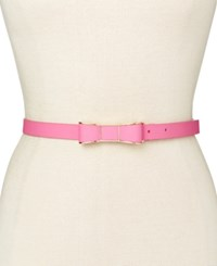 Kate Spade New York Saffiano Bow Belt Pale Pink