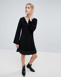 Pepe Jeans Janet Flared Long Sleeve Dress Black