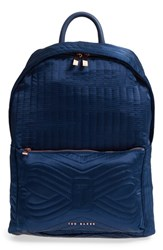 Ted Baker London Akija Quilted Bow Backpack Blue Navy