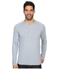 The North Face Long Sleeve Crag Henley Worn Blue Light Heather Men's Clothing