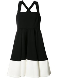 Milly Flared Mini Dress Black