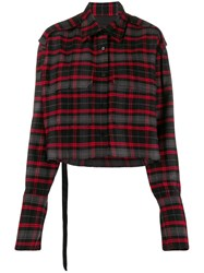 Yang Li Cropped Plaid Shirt 60