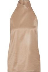 Pallas Sharon Twill Trimmed Crepe Top Sand