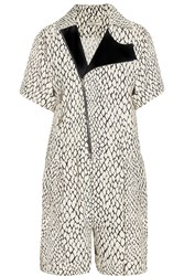 Bouchra Jarrar Printed Woven Playsuit White