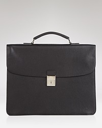 Longchamp 3 Gusset Briefcase Black Nickel
