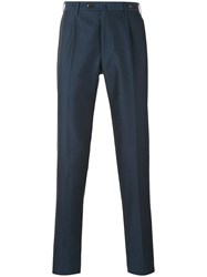 Pt01 Slim Fit Tailored Trousers Men Cotton 50 Blue