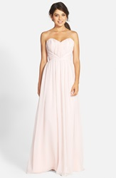Jim Hjelm Occasions Strapless Chiffon Sweetheart A Line Gown Blush