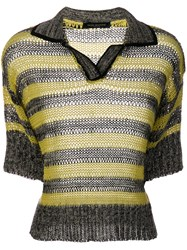 Piazza Sempione Knitted Polo Shirt Grey